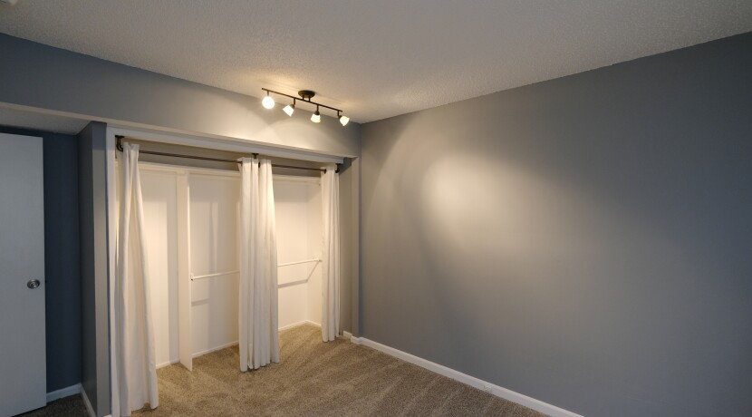 Master Bedroom with Closet Organizers